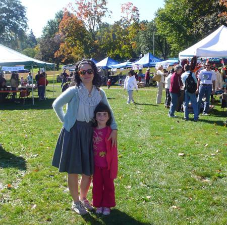 Elsita and natalie at fair