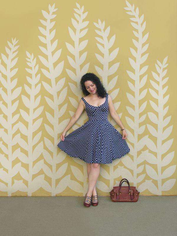 The Hidden Seed Polka Dot Dress
