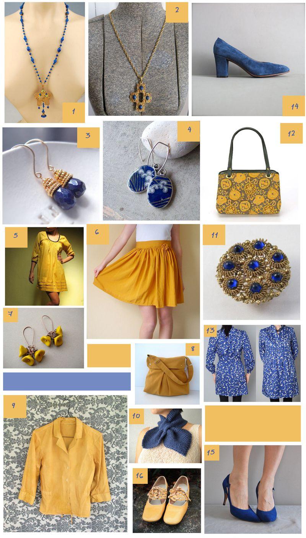 Cobalt Blue and mustard mosaic3