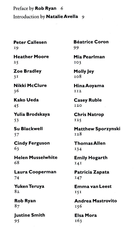 Book artist's list