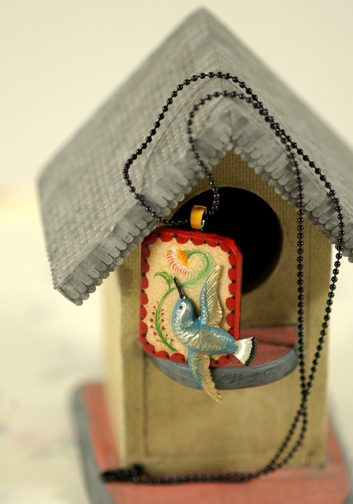 Birdhouse pendant copy