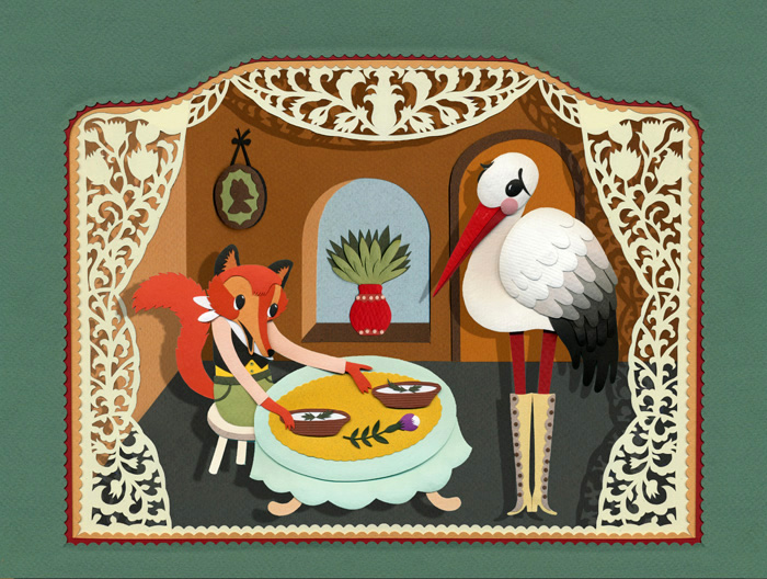 The Fox and the Stork small