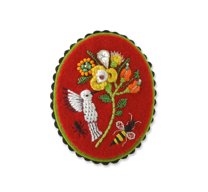 Red bird pin copy