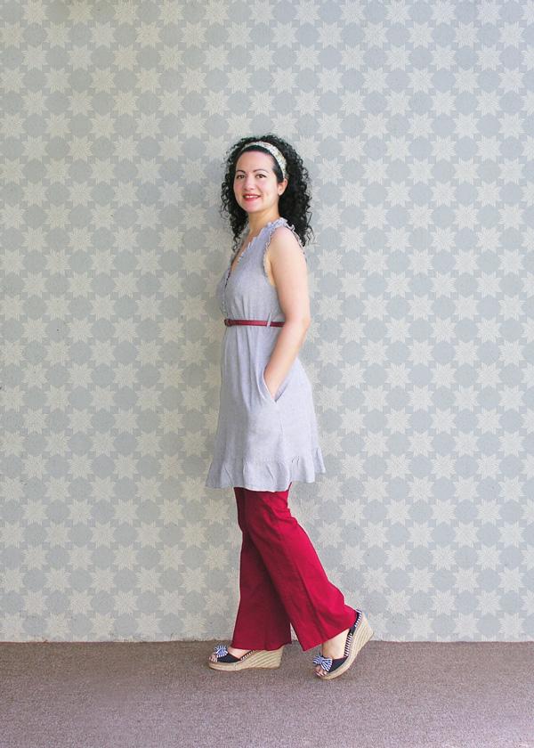Red pants con fondo small