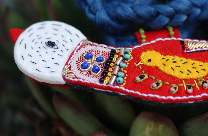 Detail head bird copy