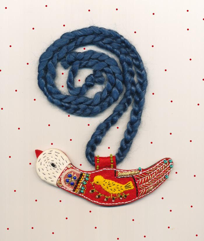 Bird necklace small