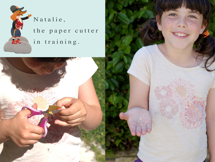 Natalie the paper cutter small