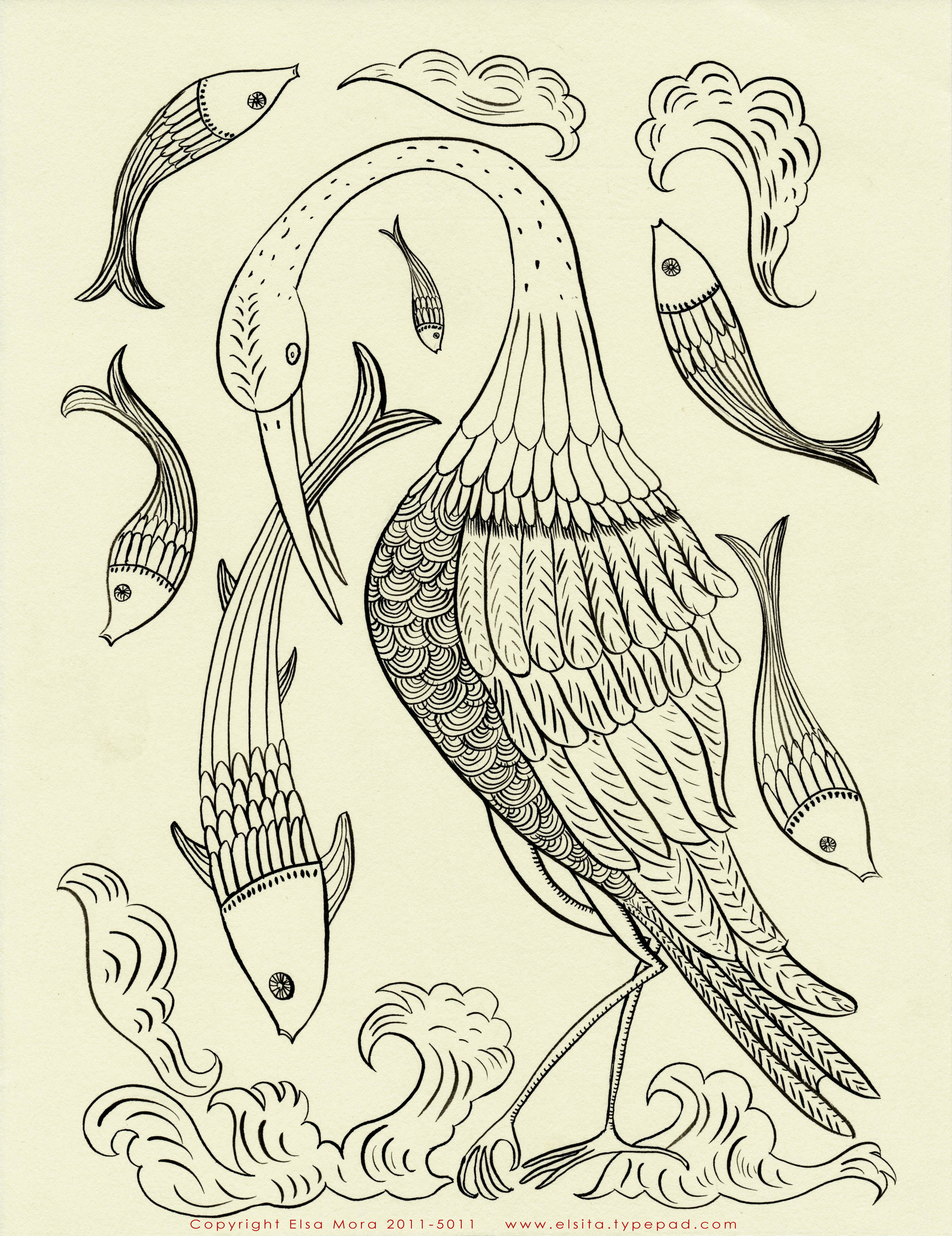 Elsa mora two free embroidery patterns for you bird and fish embroidery pattern bankloansurffo Image collections