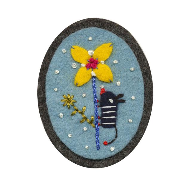 Felt pin (2008)